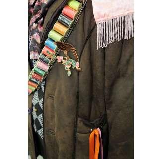 exact Mad Hatter trench COAT Jacket Alice Wonderland Costume + Free