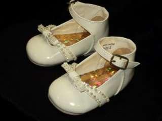 Baby Girl Ivory Beige Leather Dress Shoes/Wedding/230/SZ 2 3 4 5 6