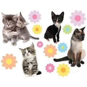 Kittens and Flowers   Peel and Stick   27 Wall Stickers Decals