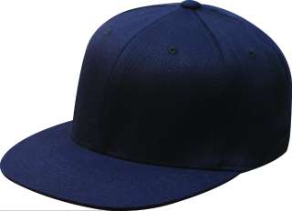 New Flexfit Hat Flat Bill Cap Fitted Black FLATBILL 210