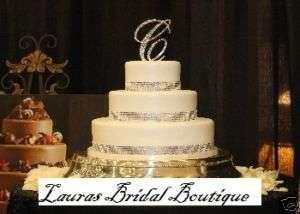 Row Silver Rhinestone Crystal Wedding Cake Ribbon*