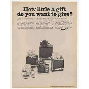 Sony Little TV Television 5 Models Give Gift Print Ad: Home & Kitchen