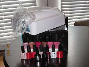 CND Shellac 4 pc TOP BASE RED BARONESS UV Lamp Light 36W Starter KIT