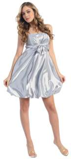 Knee Lenth Cocktail Bridesmaid Dress New Bubble Gown
