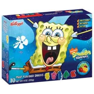 Kelloggs Fruit Snacks 10 Ct Nickelodeon SpongeBob SquarePants, 9 oz