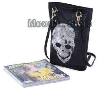 Skull Pattern PU Leather Women Hobo Purse Handbag Shoulder Totes Bag