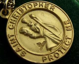 Gold Sterling Saint Christopher Coast Guard Medal .925
