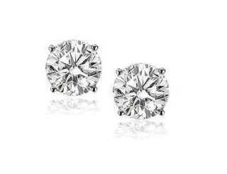 ct Brilliant Round Cut VS2 Diamond Stud Earrings 14k White Gold