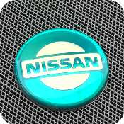 2918begnb1f1 nissan 56mm 5.6cm blue green silver center wheel hub cap