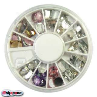 Big Size Nail Art Diamond Tips Glitter Rhinestone Decoration Wheel