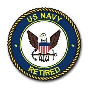 US Navy Retired Emblem Decal Sticker 5.5
