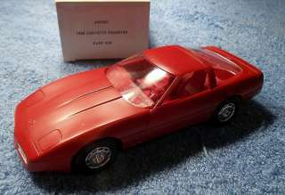 1984 DARK RED CORVETTE COUPE PROMO / MODEL CAR NEW IN BOX