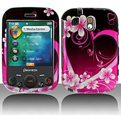 Pantech Jest TXT8040 Purple Love Snap on Protective Case Cover