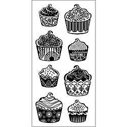 Inkadinkado Clear Cupcake Pattern Stamp Sheet