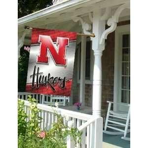Large House Flag Banner University of Nebraska Huskers