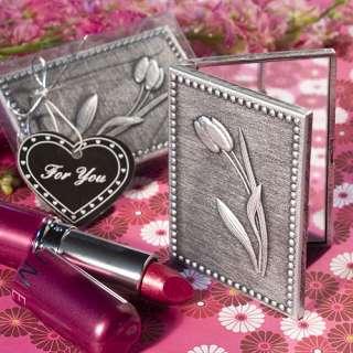 Floral Compact Mirror Wedding Bridal Shower Favor