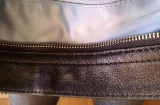 Large Coach Zoe Black Signature 12674 Hobo Shoulder Bag Handbag
