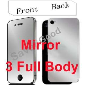 3X Mirror Full Body Screen Protector For iPhone 4 4G