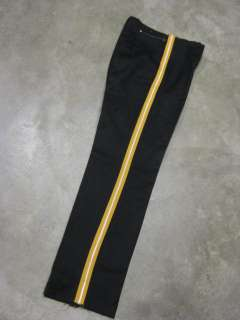 vtg Black Wool Gabardine Marching Band Pants