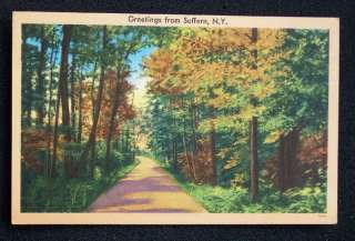 1940s? Country Road Greetings Suffern NY Rockland Co PC
