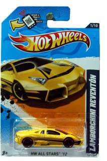 2012 Hot Wheels HW All Stars #121 Lamborghini Reventon yellow