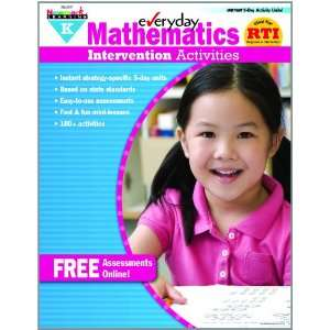 Everyday Intervention Activities for Math Grade K Book