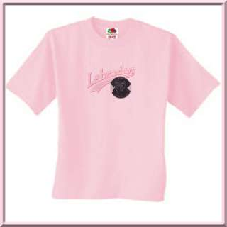 Pink Glitter Black Lab Puppy Dog Shirts S 2X,3X,4X,5X