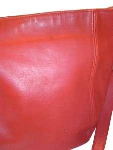 COACH Vintage Red Leather Shoulder Bag Purse