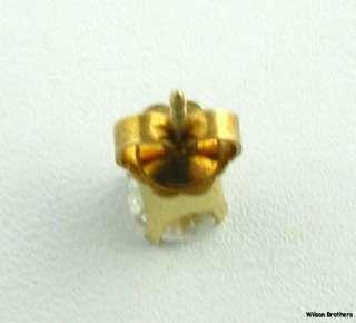 50ct Genuine Round Cut Diamond Solitaire Single Stud   14k Yellow