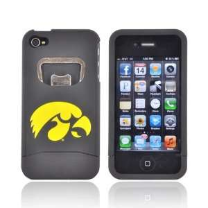 For Apple iPhone 4S 4 Yellow Iowa Hawkeyes Black Hard