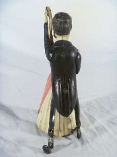 GERMANY DANCING COUPLE TIN CLOCKWORK TOY WIND UP DANCERS NR