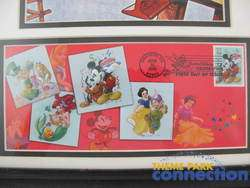 Art of Disney Celebration Mickey Minnie Mouse Framed Stamp & Artwork