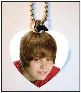 JUSTIN BIEBER #103 Photo Charm Heart Pendant Necklace