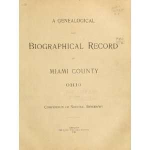 Record Of Miami Couny, Ohio Lewis Publishing Company. Books