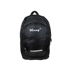 New large black shloulder students backpack for school travel bag