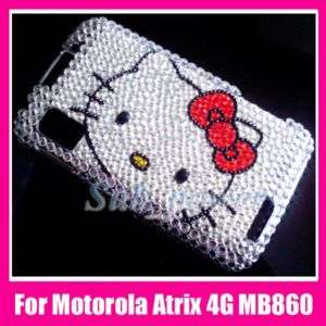 Hello Kitty Bling Case Cover Motorola Atrix 4G MB860 FS