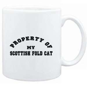 Mug White  PROPERTY OF MY Scottish Fold  Cats  Sports