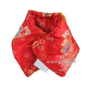 Body Wrap Hot & Cold Aromatherapy  Red Silk Brocade