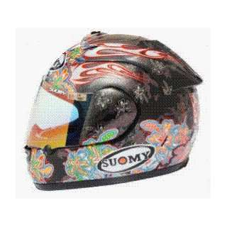 SUOMY SPEC 1R EXTREME FLOWERS HELMET BLACK/RED 3XL