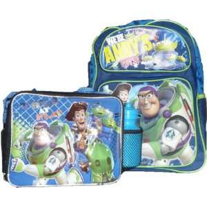 Story 3 Matching Backpack and Lunch Box with BONUS WATER BOTTLE Toys
