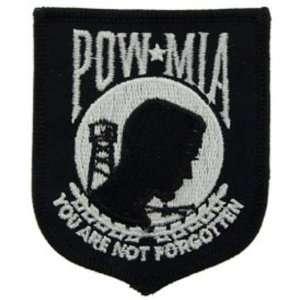 POW MIA Patch Black & White 3 Patio, Lawn & Garden