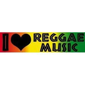 I love reggae music STICKER rasta laptop bumper