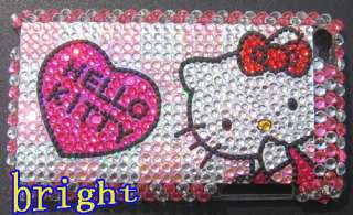 Hello kitty Bling Case Cover For iPod Touch 4G 4th #S