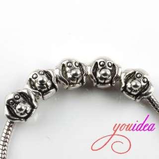 48x  Tibetan Silver Dog Charms Beads P1153