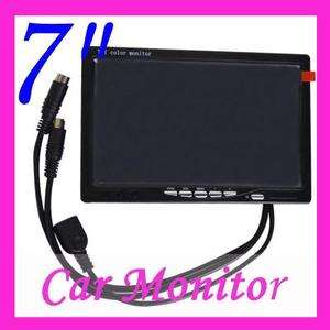 Digital 7 TFT LCD Headrest Color Car Rearview Monitor VCR DVD A309