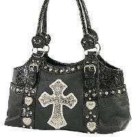 two shoulder straps front rhinestone studded cross ornament two side