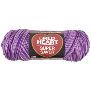Red Heart Super Saver Yarn 546 Purple Tones 5 oz Crafts
