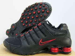 NEW MENS NIKE SHOX NZ RUNNING [378341 036] BLACK VARSITY RED