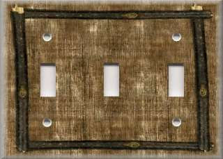 Light Switch Plate Cover   Framed Design   Image Of Rustic Wood