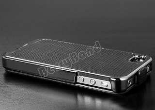 Black Deluxe Snake Flip Leather Chrome Case Cover Skin for Apple